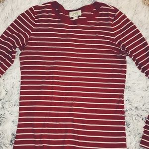 Stripped White & Red Long Sleeve